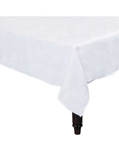 White Fabric Tablecloth   Party City