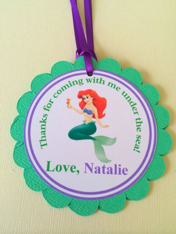 The Little Mermaid Favor Tags by BerrySweetParties on Etsy, $10.00