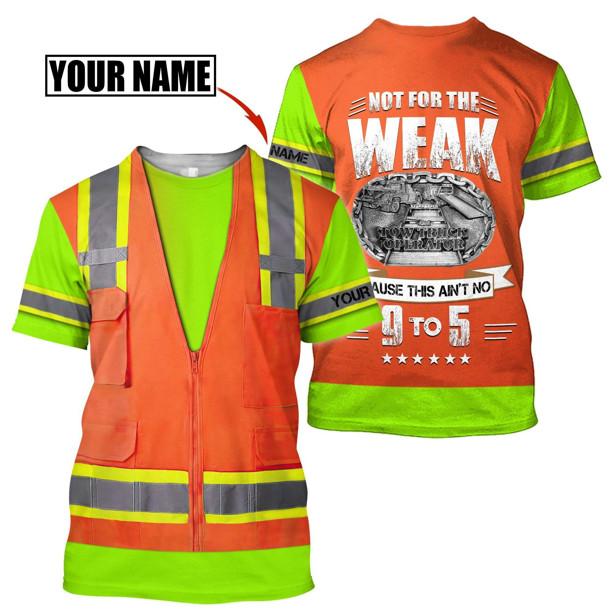 Customize Name Heavy Equipment Operator 3D All Over Printed Unisex Shirt - T-Shirt / XXL
