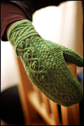 Druid Mittens (by b r o o k l y n t w e e d)  Pattern for sale on Ravelry - $6