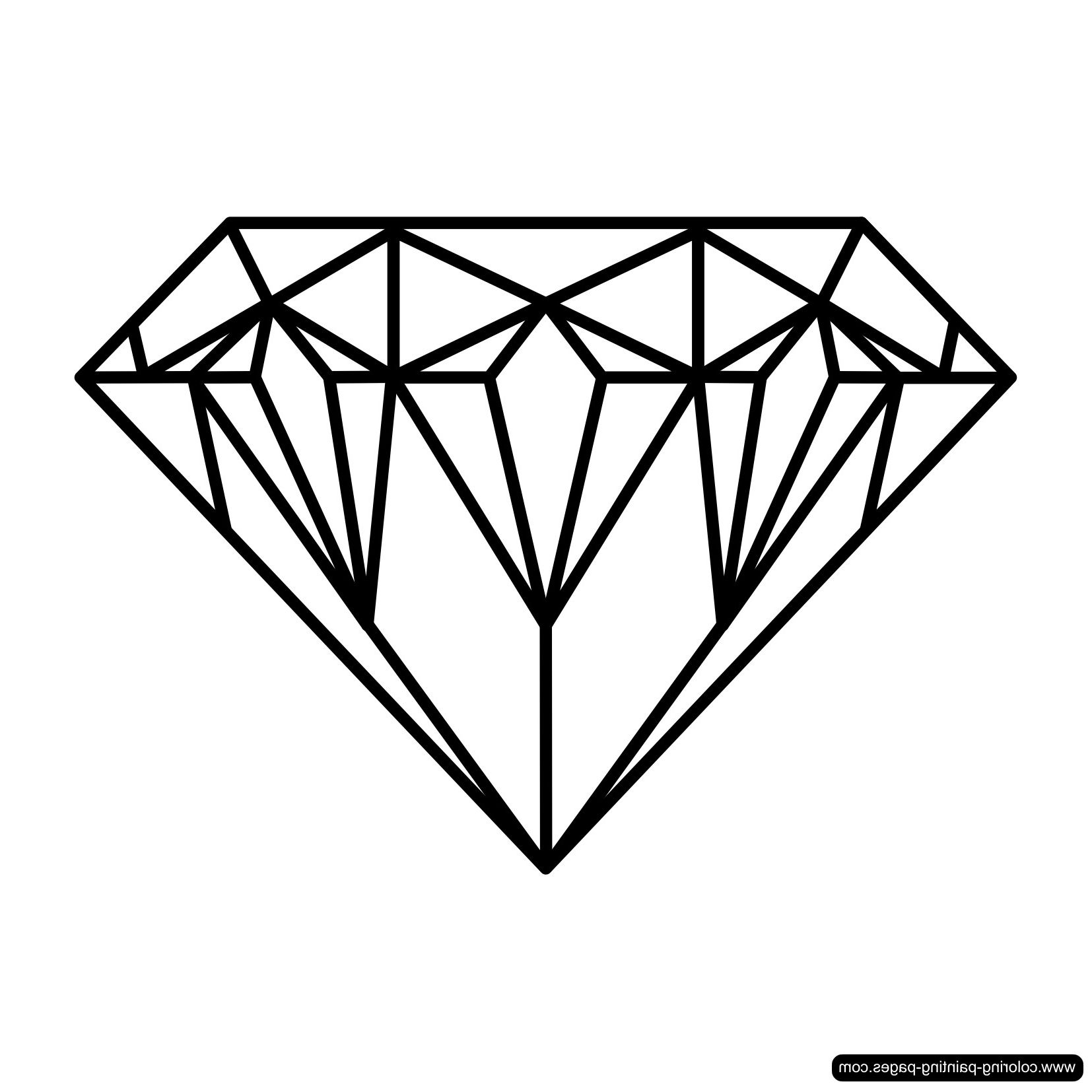 Diamond Coloring Page Printables Http Www Wallpaperartdesignhd