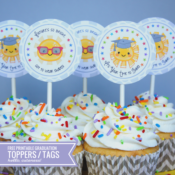 End of the Year / Graduation Cupcake Toppers (free ...