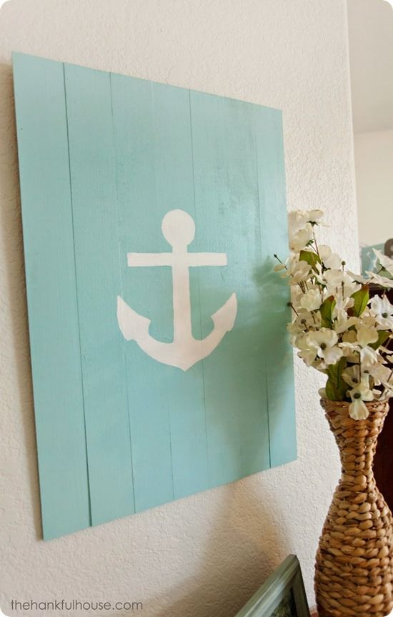 Nautical Pallet Anchor Sign {inspired by Pottery Barn}