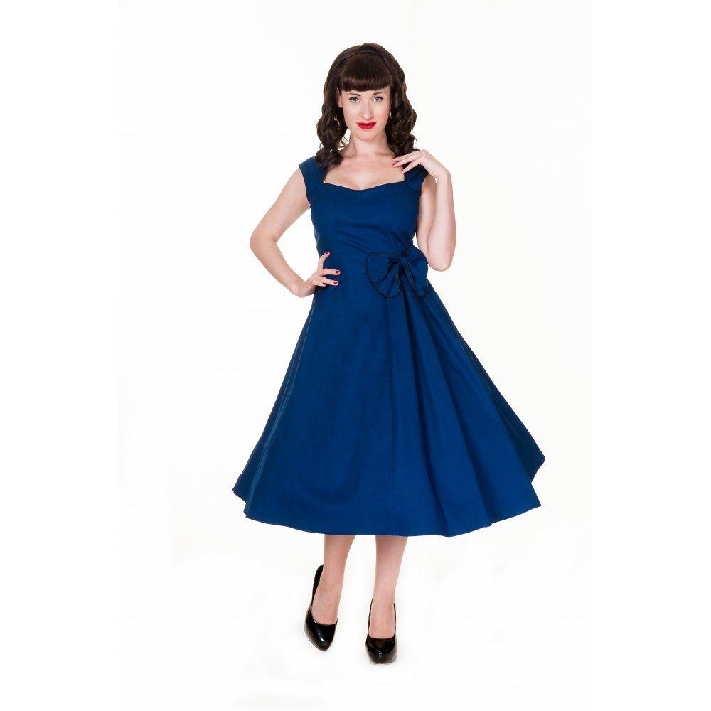 111674a7f6 Grace Midnight Blue Swing Dress