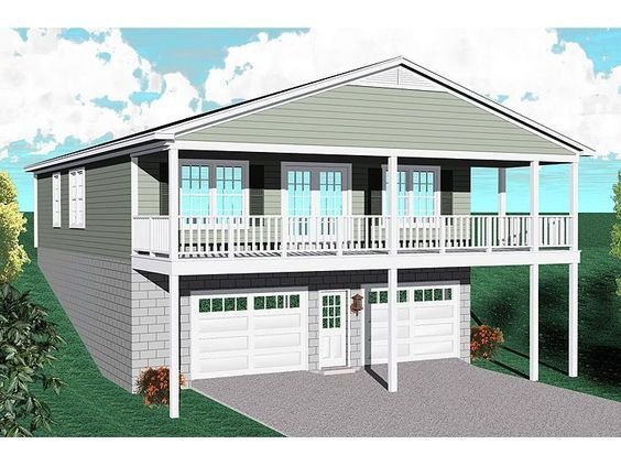 Carriage House Plans Carriage House Plan For A Sloping Or Waterfront Lot 006g 0109 At Thehousepl Unique House Plans Garage House Plans Carriage House Plans