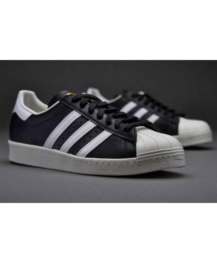 deb4d6244964 Adidas Superstar 80s Gum Outsole Black White Chalk Trainers