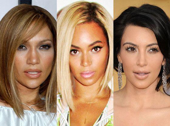 Bob Haircuts, Jennifer Lopez, Beyonce, Kim Kardashian