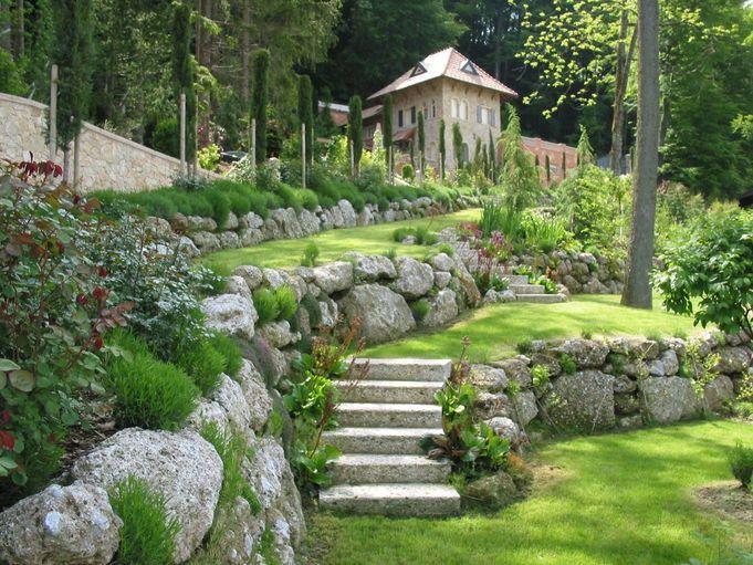 Steingarten Gartengestaltung Naturstein Garten Stein Treppe