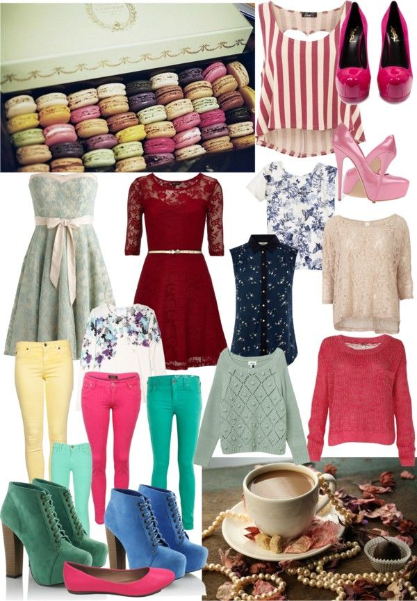 """""""Macaroons And Tea"""" by mizzen ❤ liked on Polyvore"""