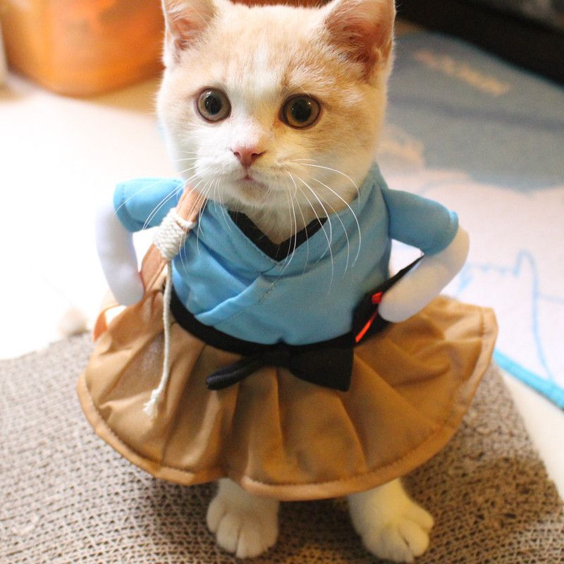 Quatang Gallery- New Pet Dog Cat Costume Suit Clothes Funny Dress Up Clothing Party Interesting Transfiguration Pet Cat Dog Funny Cat Dog Costume Funny Cat Clothes Pet Costumes