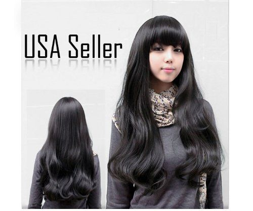 Black New Stylish Wig Long Wavy Curly Cosplay Party Hair Women's Full Wigs by AMC. $14.99. Comfortable enough to wear daily and won't damage your own hair.. This pop style wig is soft to the touch and looks silky and healthy!. Feels and looks similar to true-to-life human hair.. Easy to wash and care for. Material: Imported Fibril. Features: This pop style wig is soft to the touch and looks silky and healthy!Feels and looks similar to true-to-life human hair.C...