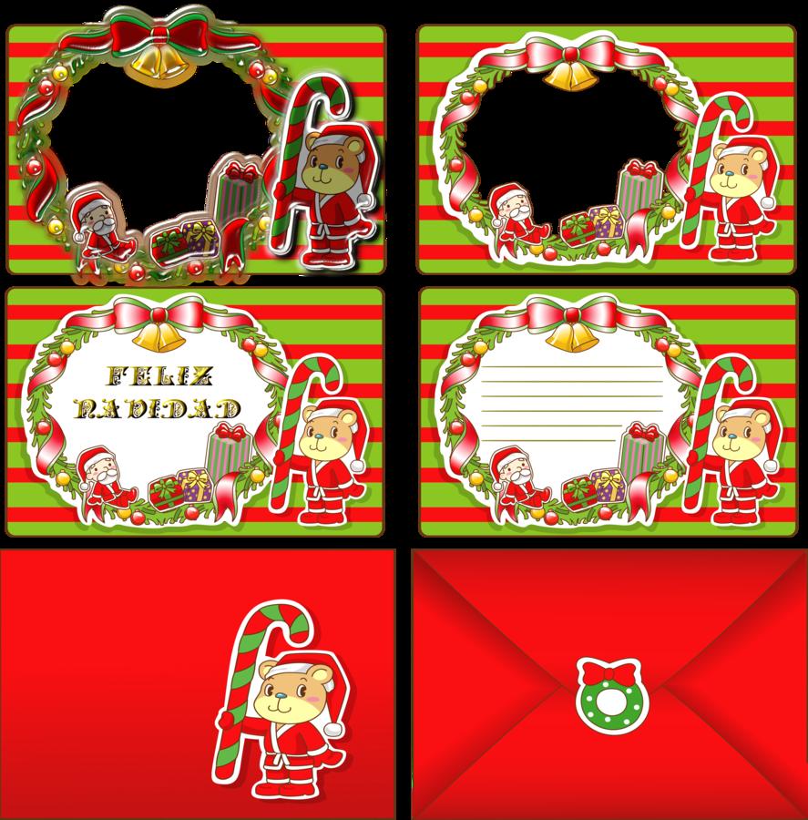 Tarjeta-navidad-04 by bbvzla | Christmas | Pinterest | Marcos para ...