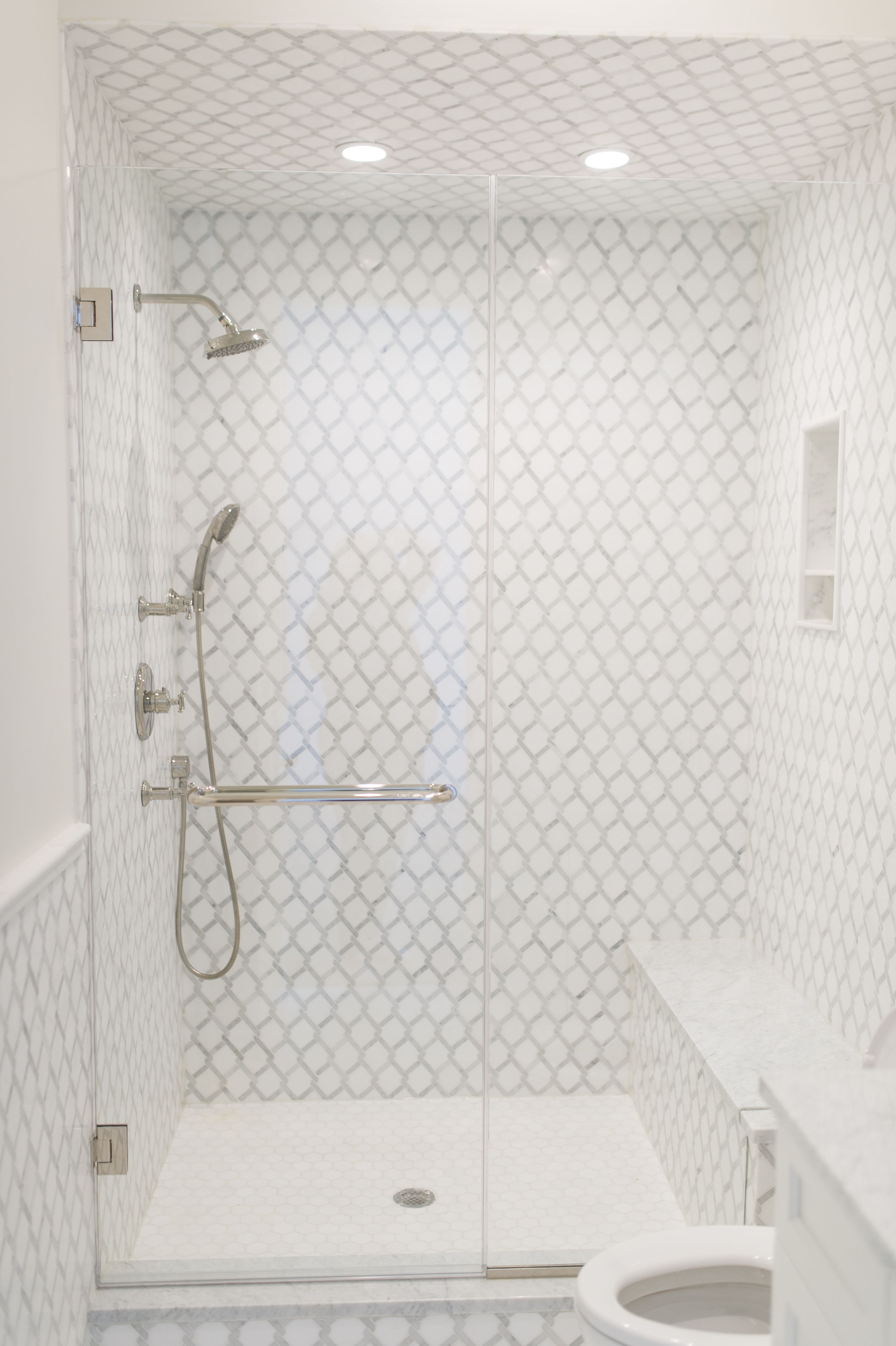 Frameless Low Iron Glass Shower Enclosure Door And Inline Panel