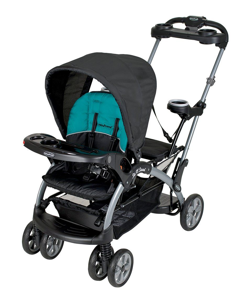Take a look at this Lagoon Blue Sit 'N' Stand Stroller