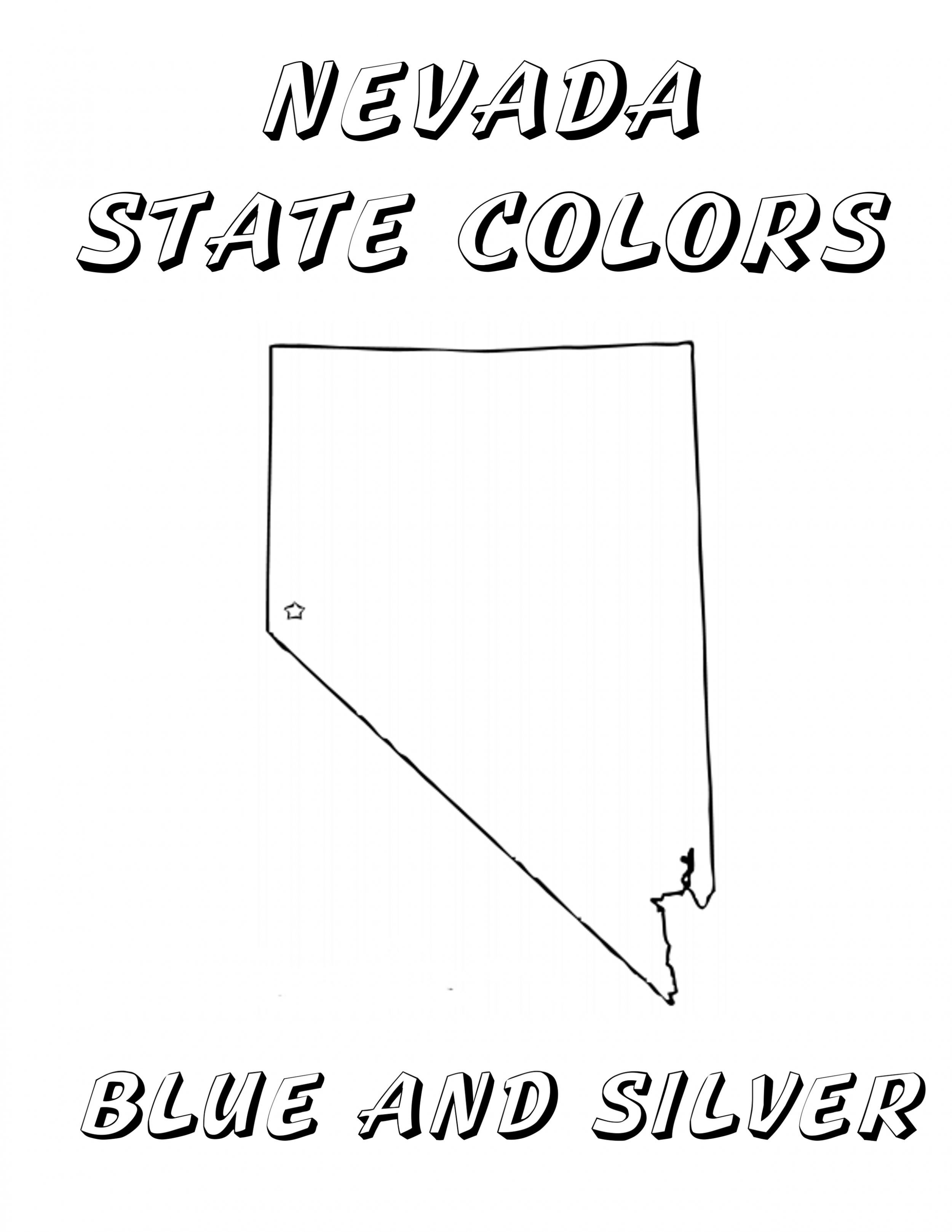 Free Printable Nevada Coloring Book Coloring Books Nevada
