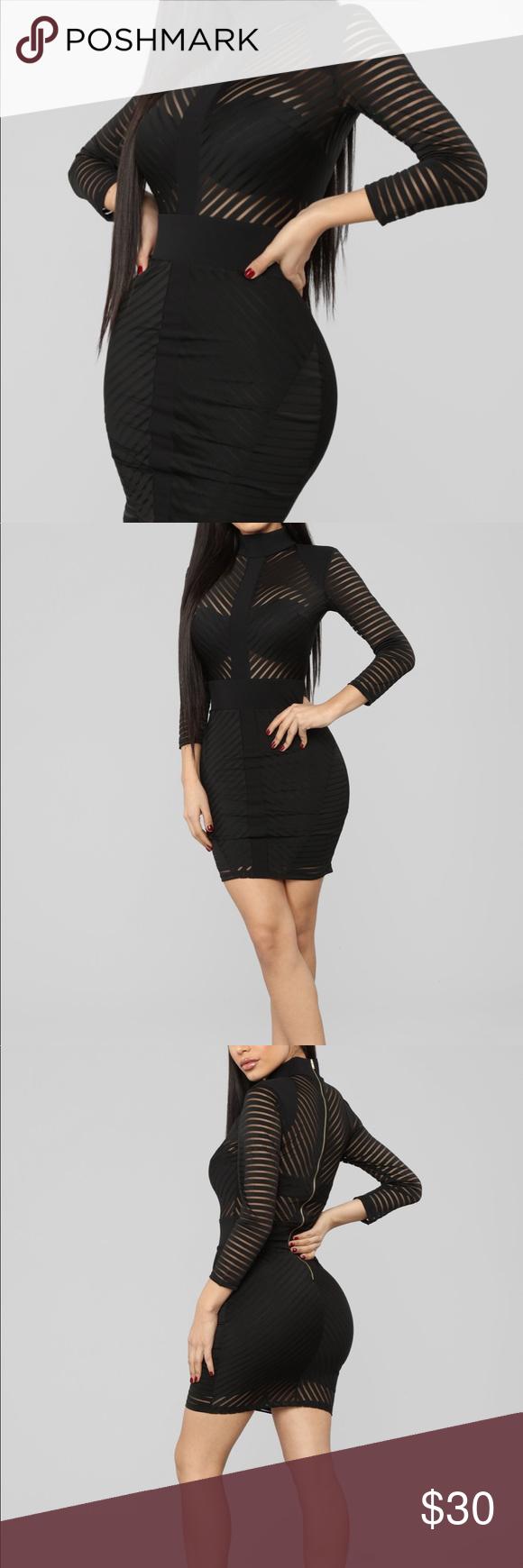 Black Fashion Nova 3 4 Length Sleeve Dress Fashion Black Fashion Fashion Nova [ 1740 x 580 Pixel ]