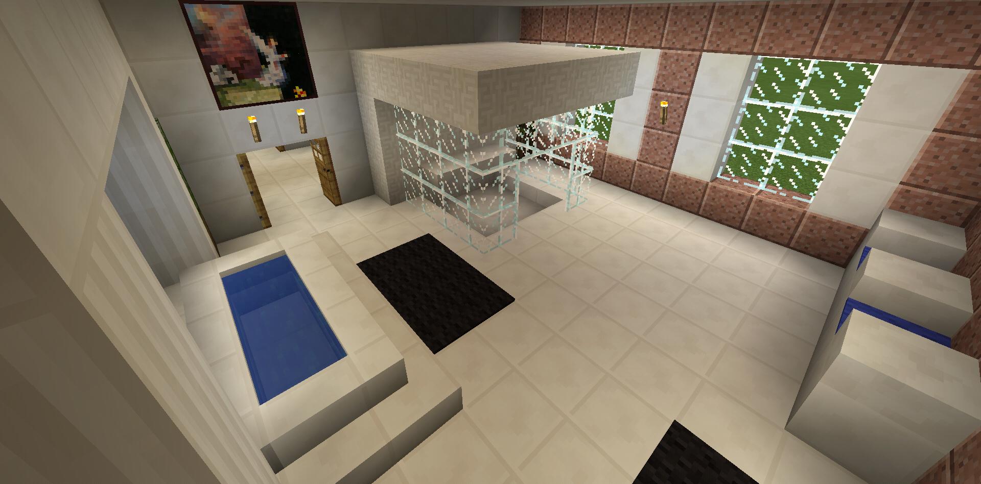Minecraft Bathroom Glass Shower Garden Tub Sink | Master ...