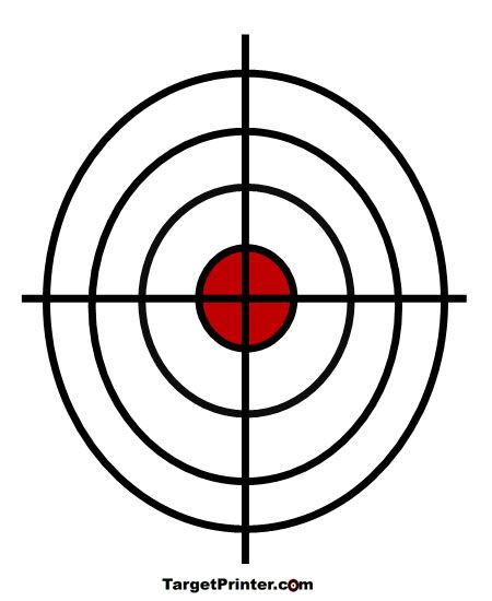 Printable Target Large Crosshair Bullseye Shooting Range