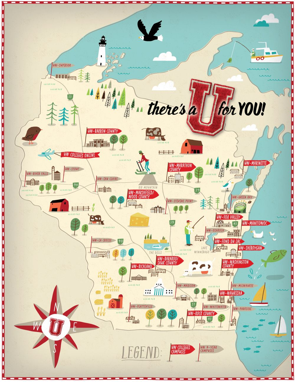 University of Wisconsin Colleges | campus locator map | Info