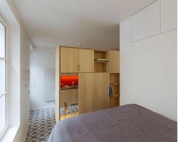 Bedroom - small studio Paris
