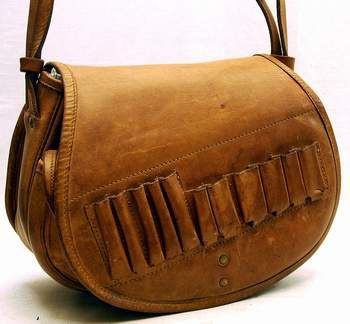 Leather Hunting Cartridge Bag Vintage
