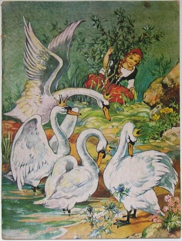 The Wild Swans -- Fairytale Illustration