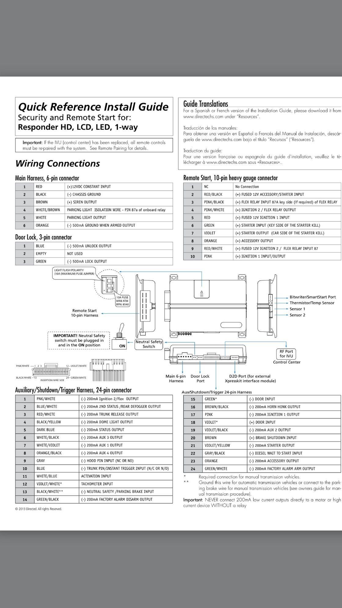 5706 Viper Alarm Wiring Diagram Viper Alarm Wire Remote Start