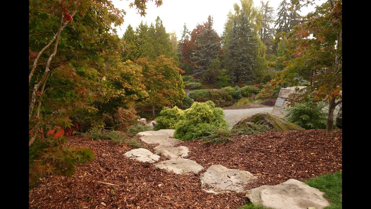 The Kubota Gardens are a spectacular setting of hills and valleys ...
