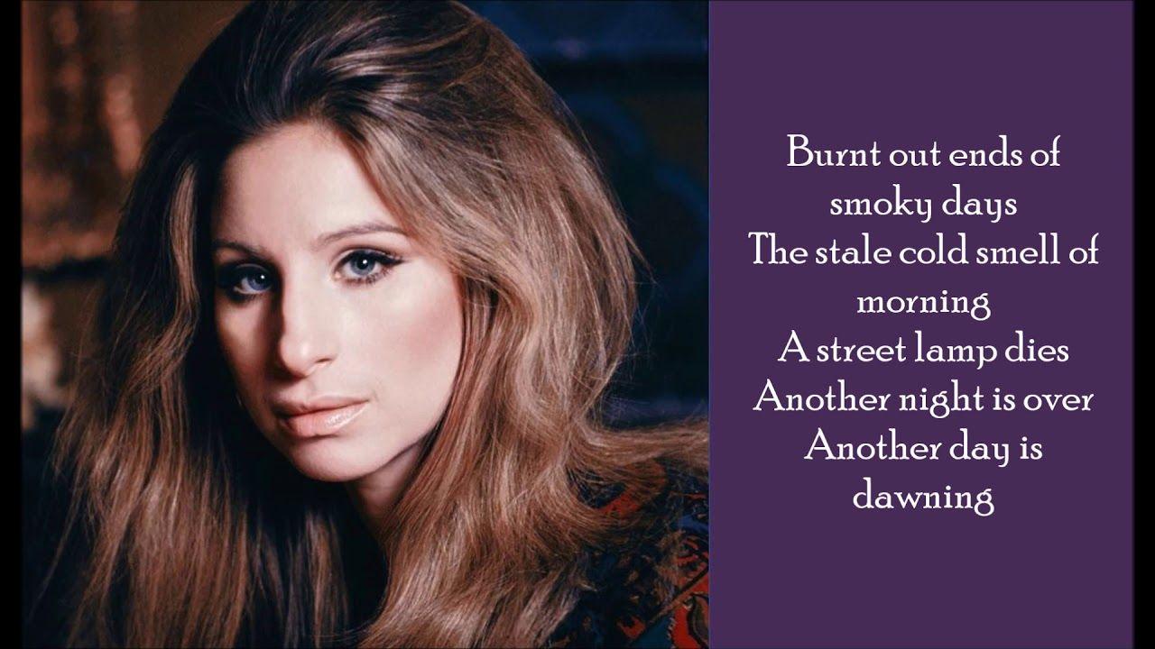 Memory - Barbra Streisand - (Lyrics) - YouTube (With images ...