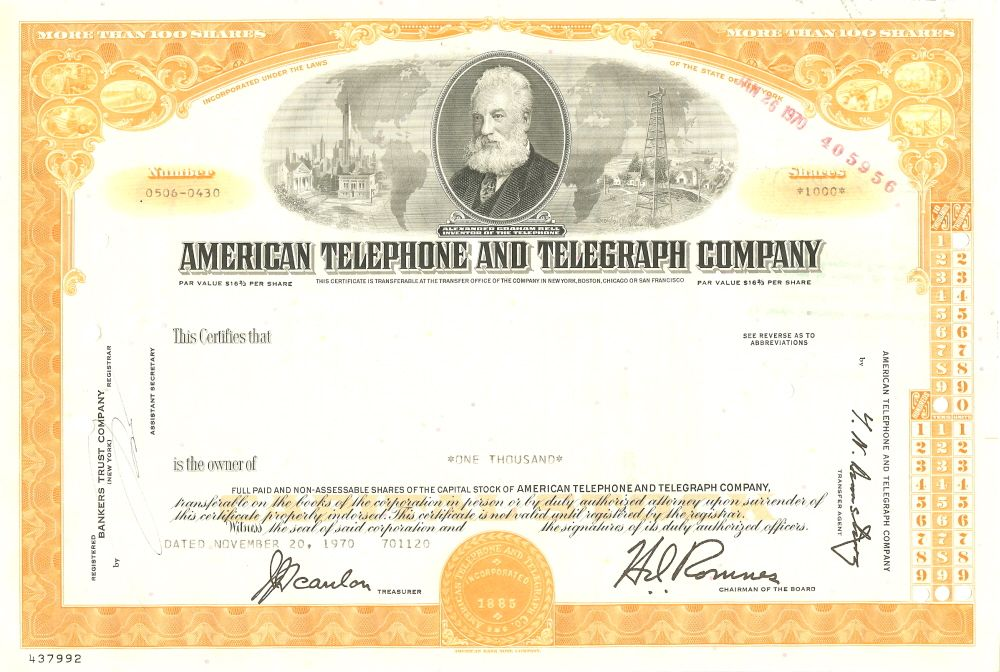 VW Volkswagen Aktie Share certificate Scripophily - company share certificates