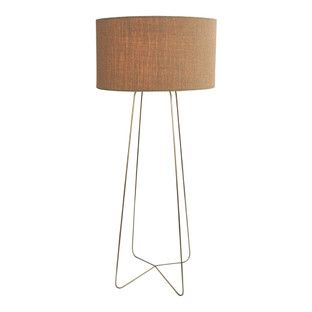 Jamie Durie Luma Cylinder Lamp With Linen Shade