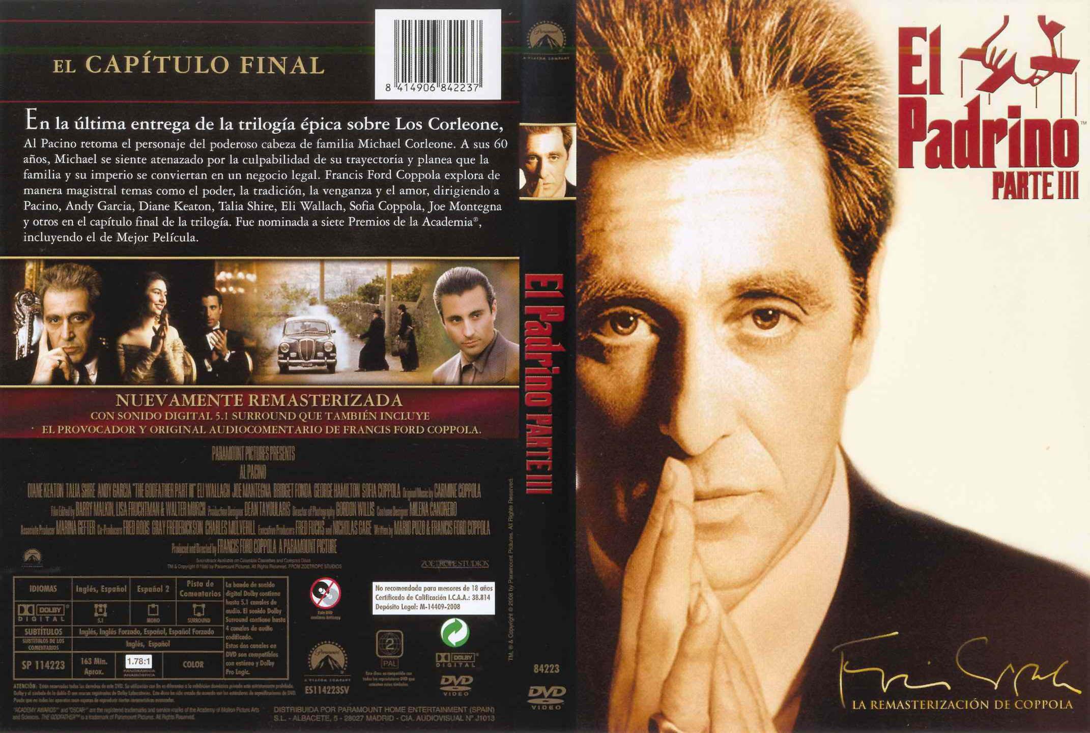El Padrino Parte 3 La Remasterizacion De Coppola El Padrino Portadas De Peliculas Cine Clasico