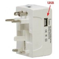 US UK AU EU Universal Travel Adapter AC Power Plug All In One with USB Port
