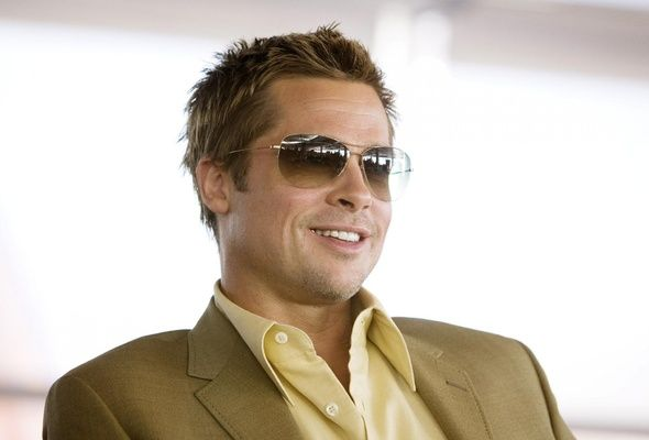 7ef1972db15 Brad Pitt in Ray Ban Cockpit Sunglasses RB 3362 001 51 yummy ...