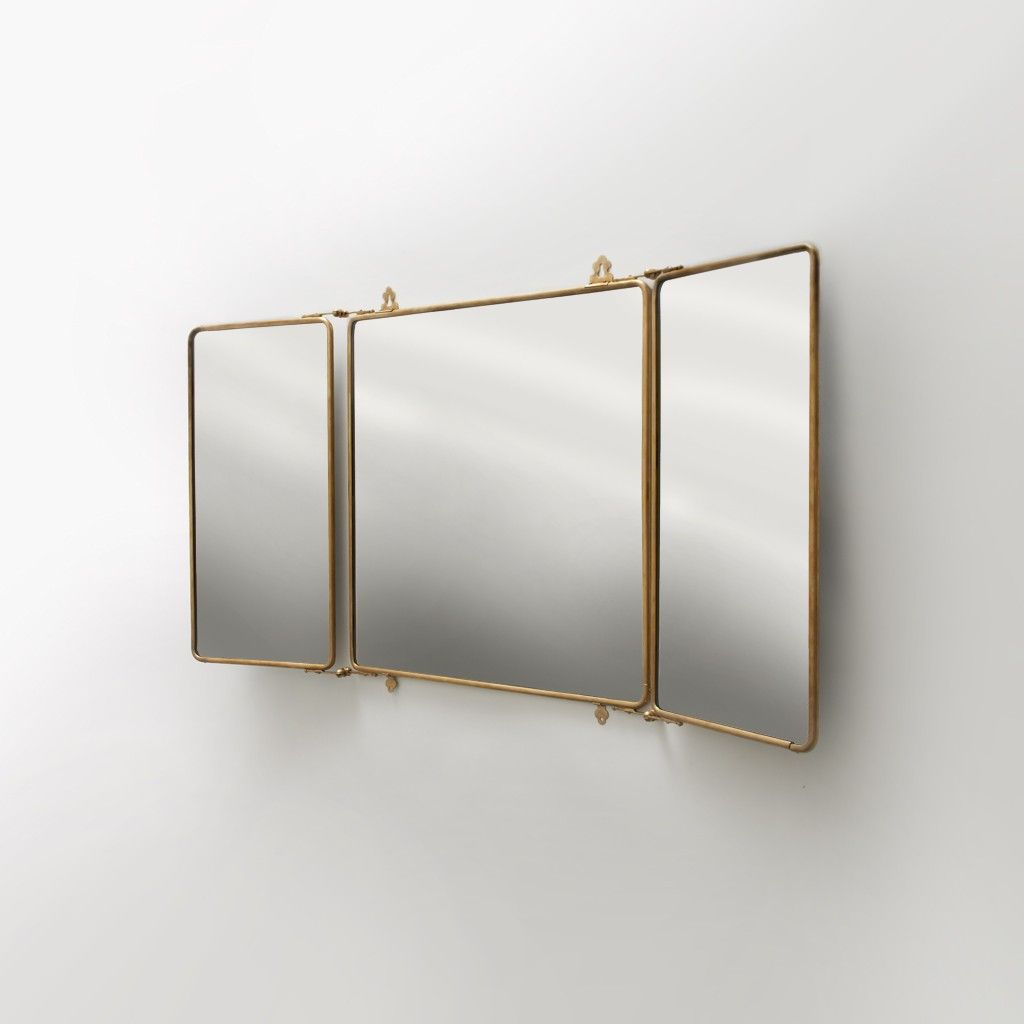 Daphne Metal Rectangular Wall Mounted Trifold Mirror 42 3 8 X 26
