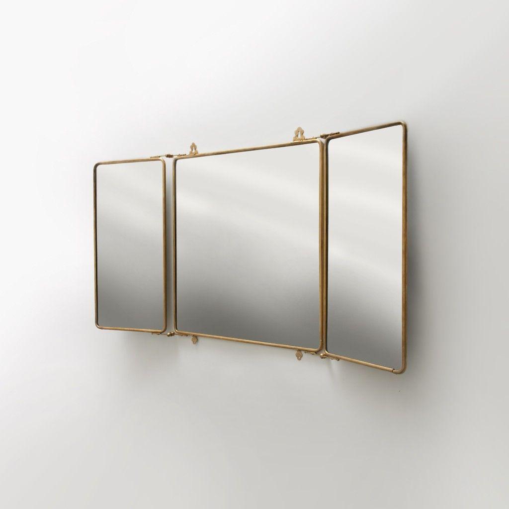 Daphne Metal Rectangular Wall Mounted Trifold Mirror 42 3 8 X 26 4 1 Mirrors Medicine Cabinets Waterworks