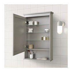 HEMNES Mirror cabinet with 1 door - gray 24 3/4x6 1/4x38 5 ...