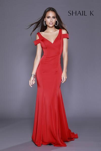 7ae51b3ecb V-Neck Shoulder Strap Mermaid Style Dress 33905