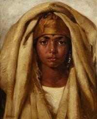 Jeune fille arabe by Gustave Achille Guillaumet  ; Frensh 1840 - 1887