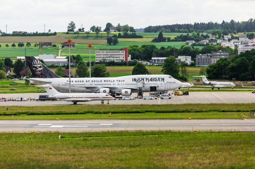 Germany S Air Force One Right Next To Iron Maiden S Ed Force One