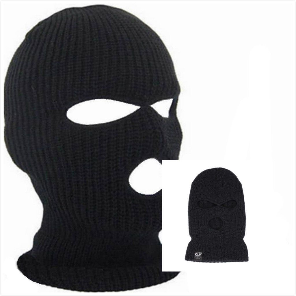 03e21eb4760 Pop Cycling Winter Ski Mask Face Beanie 3 Hole Braided Knit Ski Snowboard  Warm