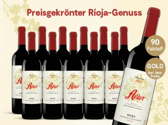 Avior Reserva 2012 12 Flaschen Fur Nur 99 90 Statt 179 40 Mit 44 Direkt Zum Angebot Rioja In Perfektion Der Avior Ist Das Sin Flaschen Weinflasche Wein