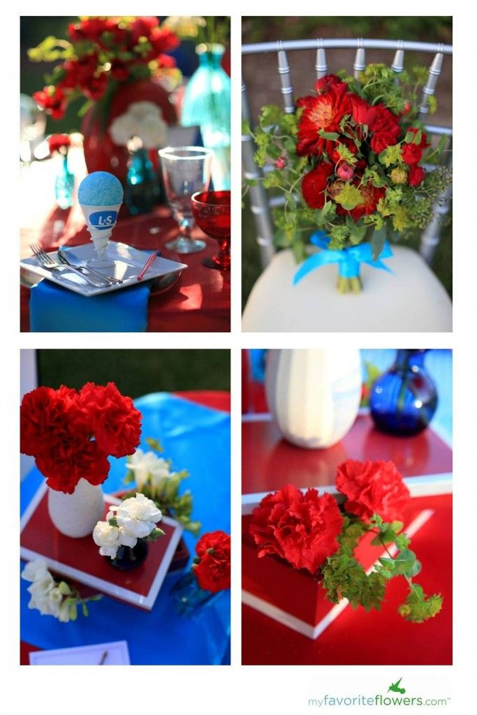 Red, White, and Baby Blue Tablescape | RED, WHITE & BLUE | Pinterest ...
