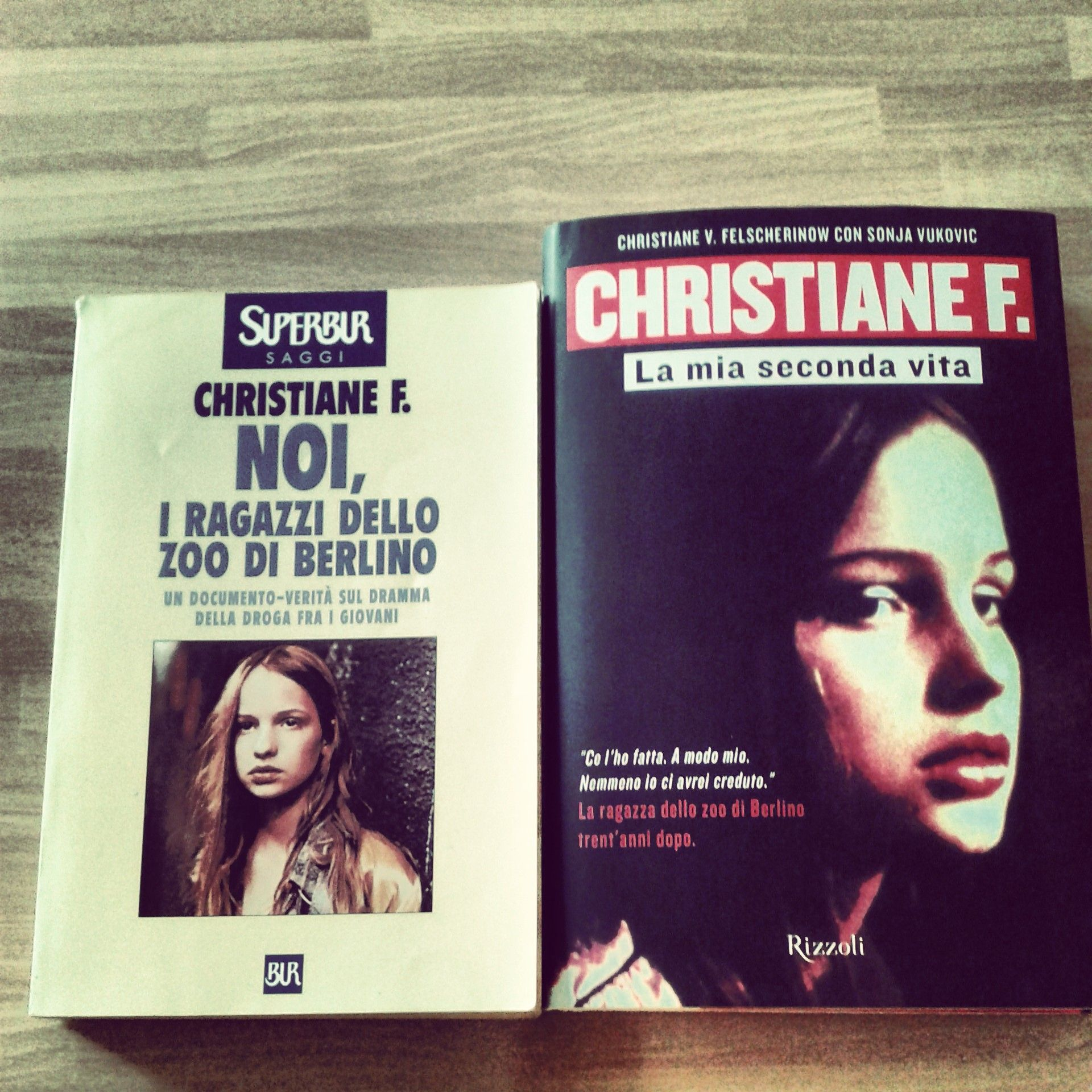 christiane f la mia seconda vita  Sinistra (Left): Christiane F.