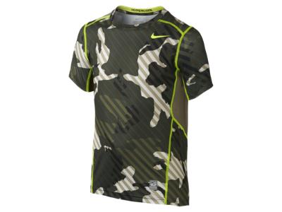 Nike Pro Hypercool Fitted Woodland Graphic 8y 15y Boys Shirt
