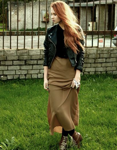 motorcycle jacket with long skirt