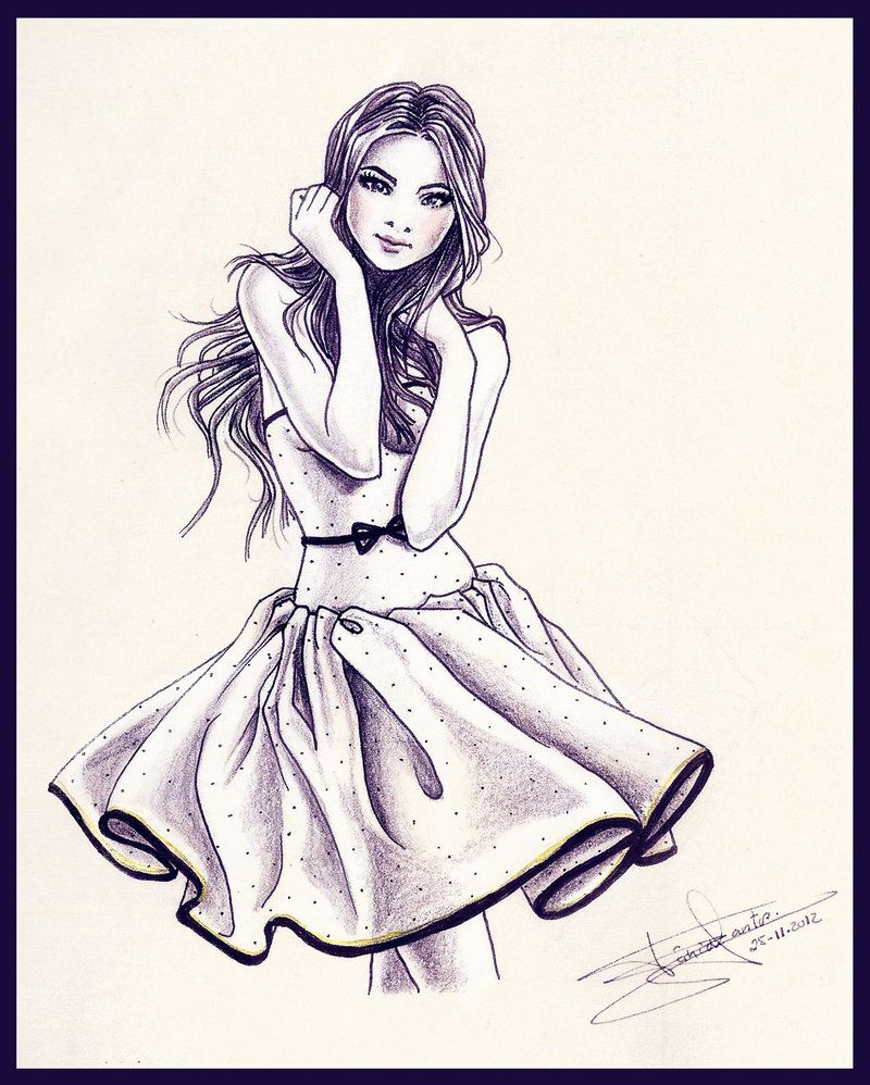Vogue fashion girl drawings amazing with photo of vogue for Amazing drawings of girls