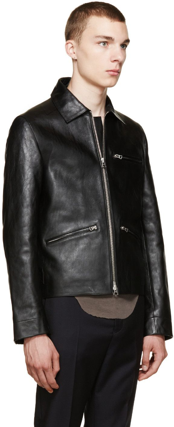 Acne Studios - Black Leather August Jacket