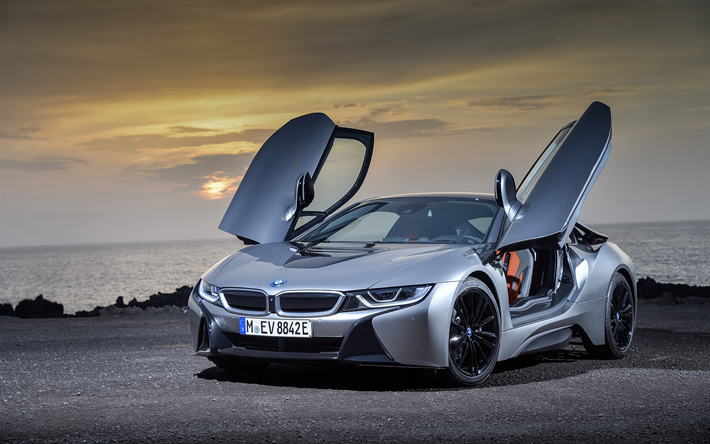 Download Wallpapers Bmw I8 2019 New Gray I8 Sports Coupe