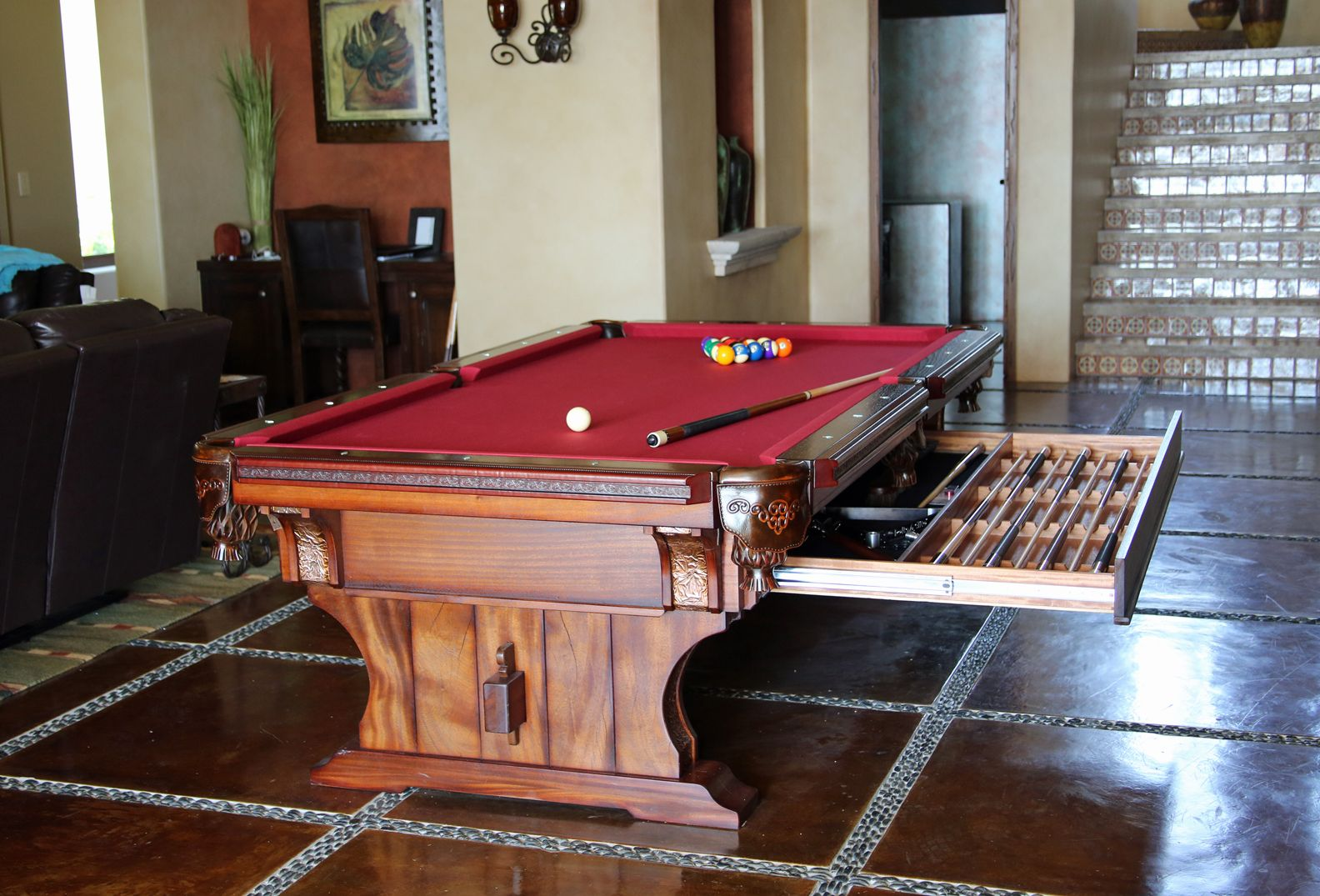 Cabo Pool Table by designer Tim McClellan. made from